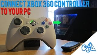 Connect Xbox 360 Controller to PC : (Wireless/Wired) - Windows 10/8/7/Vista/XP