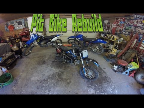 pit bike piston ring replace pt 2: removing top end and rebuilding
