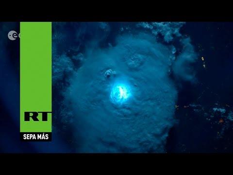 Espectaculares imágenes: ¿cómo se ve un rayo desde el espacio?