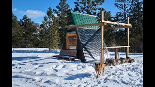 Off-Grid Living: $1000 DIY A-Frame Micro Cabin on Skis