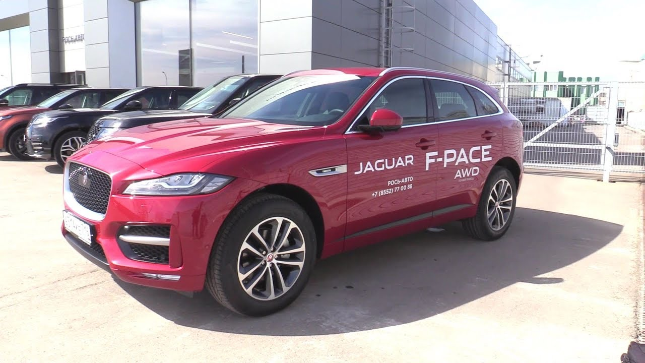 2019 Jaguar F-Pace. Start Up, Engine, and In Depth Tour.