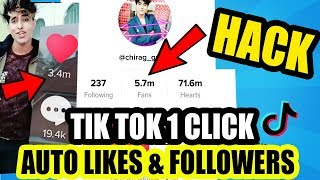TIK TOK AUTO FOLLOWER LIKES HACK IN 1 CLICK | INCREASE LIKES ON MUSICALLY IN HINDI NEW TRICK 2018