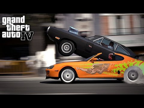 GTA 4 Fast & Furious 1970 Dodge Charger vs Toyota Supra No Music = Epic Car Sounds GamePlay