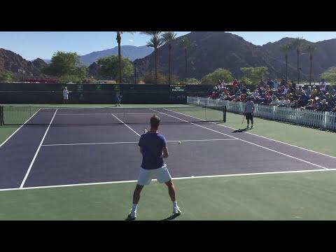 Richard Gasquet / Gilles Simon 3/8/16 Indian Wells BNP Paribas Open Practice