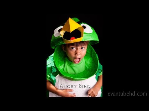 Homemade Angry Birds Boomerang Green Bird Halloween Costume