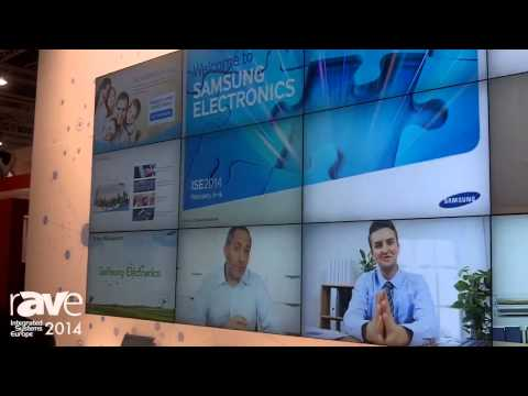 ISE 2014: Samsung Presents MagicInfo Video Wall-I