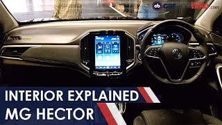 MG Hector: Interior Explained   NDTV carandbike