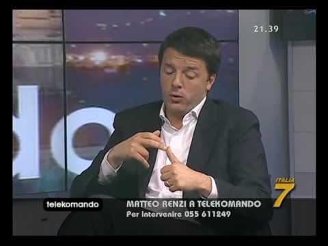 Matteo Renzi a Telekomando il 17 maggio 2012 spiega la vicenda Lusi