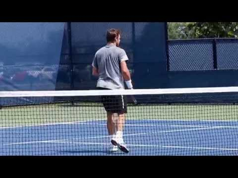 "Stanislas Wawrinka ""Stanimal""/Leander Paes Practice W&S Open Cincinnati 2015"