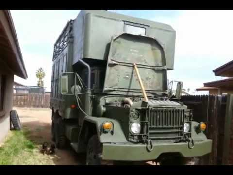 M109A3 Military Vehicle Shop Van RV Camper with solar panels and Custom Sleeping Area