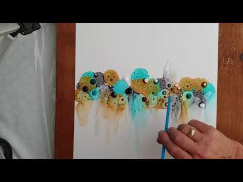 Alcohol ink and Mod podge technique (nr10) material list below the video