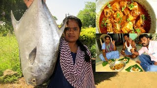 Big Fish Kulambu Recipe Cooking in My Village | Tasty Fish Curry | VILLAGE FOOD