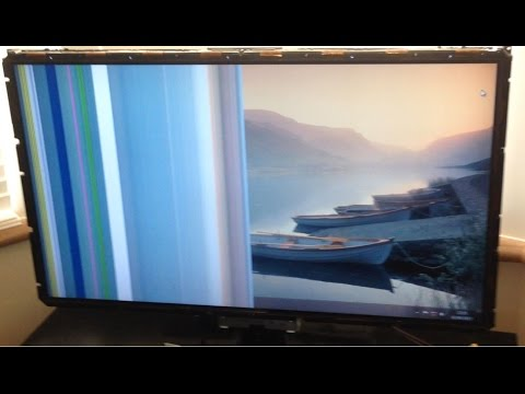 Lcd Tv Half Screen Black Flickering Dark - Troubleshoot Only & How To Repair Fix Quick Tip