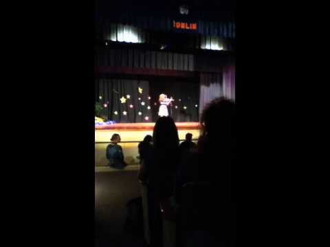 Emily at Tomlin Middle School Talent Show 2011