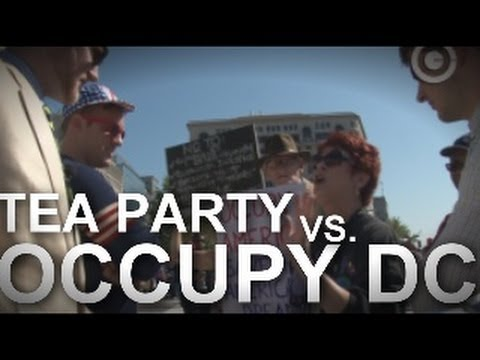 TEA PARTY Invades OCCUPY DC- (explicit)