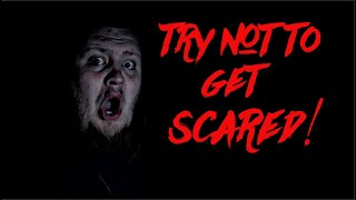 TRY NOT TO GET SCARED  CHALLENGE!!! (IN THE DARK)