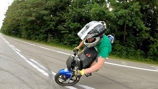 Stoppie 180 training | Honda 125 STUNT