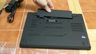 Lenovo T470 unboxing and boot up with 1TB PCI-E SSD, size comparison with T450s