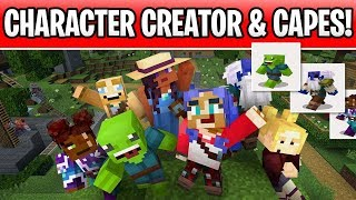 Minecraft Custom Character Creator & Capes Are Coming! Bedrock Beta Custom Skins