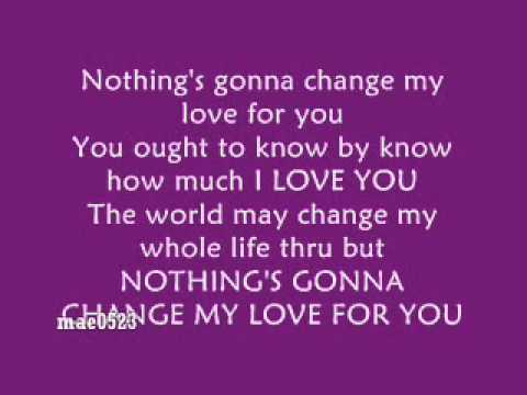 Westlife - Nothings Gonna Change My Love For You  Video Lyrics
