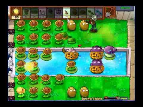 plantas vs zombies supervivencia infinita Inicio