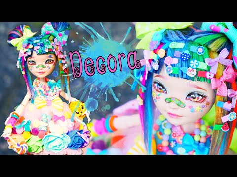 Harajuku Decora Kei 💙❤💜💛💚🌈 Girl Custom Doll Ever After High  Repaint