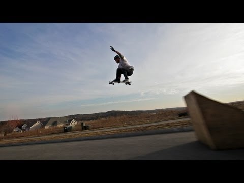 20 foot air on a longboard with Brian Bishop
