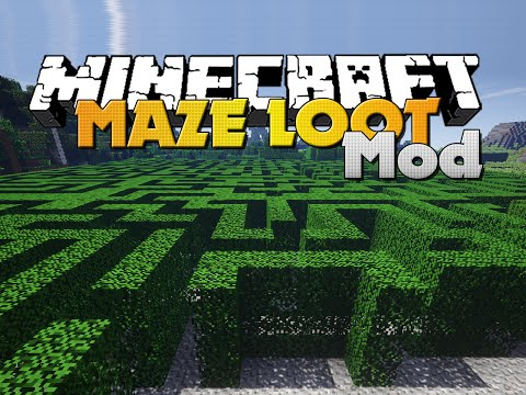 Minecraft - MAZE MOD - GENERATED MAZES WITH LOOT