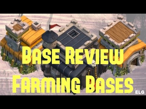 Clash of Clans - Farming Base - Base Review - Town Hall 9 Town Hall 8 Town Hall 7