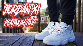 Jordan 11 Platinum Tint Review And On Foot 4k