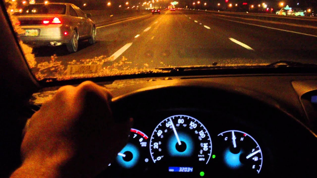 2008 Toyota Solara SLE Night Drive on the Freeway - YouTube
