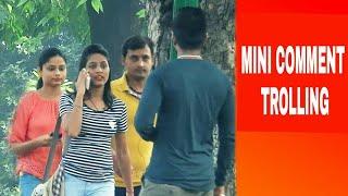 AAPKI PANTY DIKH RAHI HAI PRANK   HILARIOUS REACTIONS   MINI COMMENT TROLLING   PRANK IN INDIA