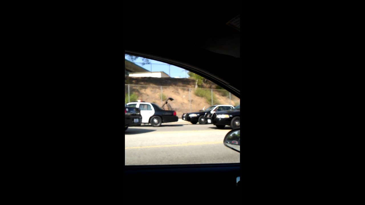 Police brutality in Montebello by Sher high school - YouTube