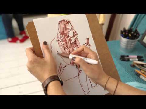 Видео как научиться рисовать людей поэтапно