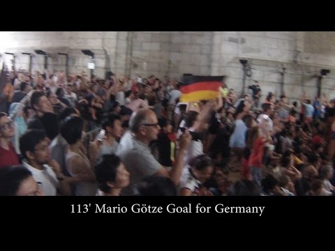 Fans mixed reactions to Germany Argentina 1-0  Gonzalo Higuain Goal (disallowed) & Mario Götze Goal