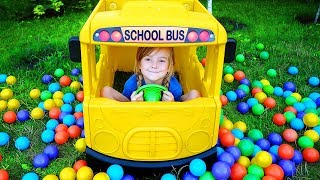 Ulya and baby doll play with the School Bus