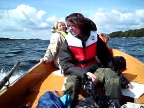 7.5 hp Mercury outboard on a Askeladen 14´ fibreglass boat