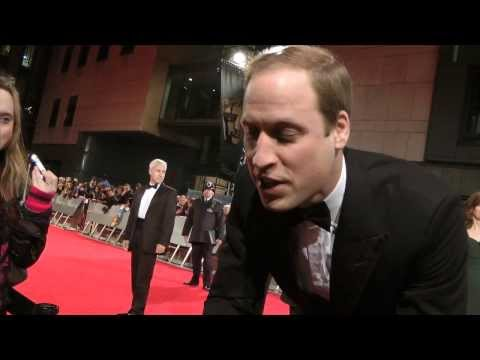 PRINCE WILLIAM EXCLUSIVE  AT BAFTA FILM AWARDS 2014 LONDON