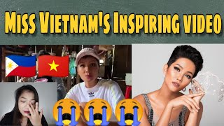 Filipina Cries on Miss Vietnam's Inspiring Video | H'Hen Nie | Reaction Video | Ice Cee TV 🇻🇳🇵🇭