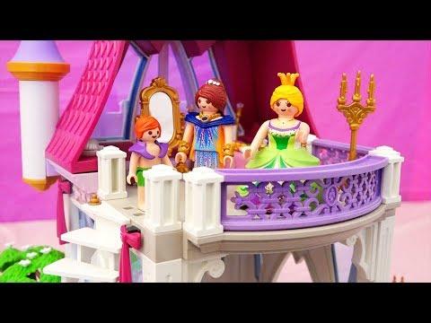 Juguetes de Playmobil en español - Castillo de princesas y piscina - Novelas con muñecas y juguetes