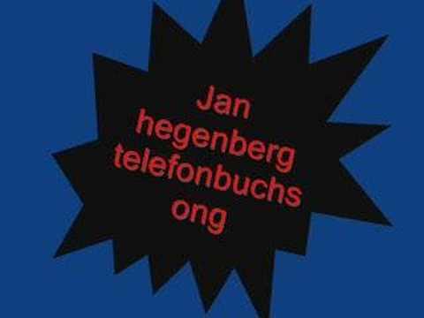 Jan Hegenberg - Telefonbuchsong