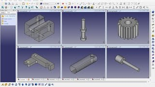 FreeCAD 0.16 (4864) Mechanical drawing TH21A
