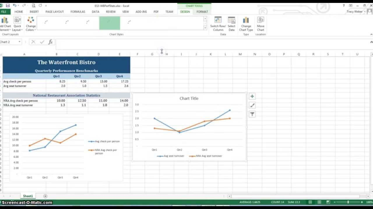 Drawing Lines Excel : Excel creating a line chart drawing shapes youtube