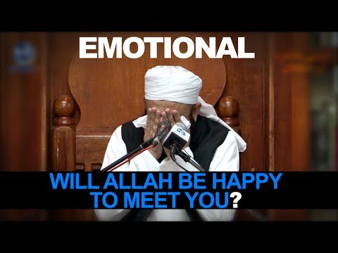 [eng] Will Allah Be Happy To Meet You? [emotional] Maulana Tariq Jameel video