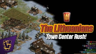 3v3 Scandinavia | The Lithuanians Town Center Rush!