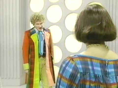 The Sixth Doctor chokes Peri