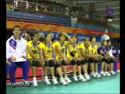 Thailand vs Japan'2010 Asian Games  Women's Volleyball ' Part 1