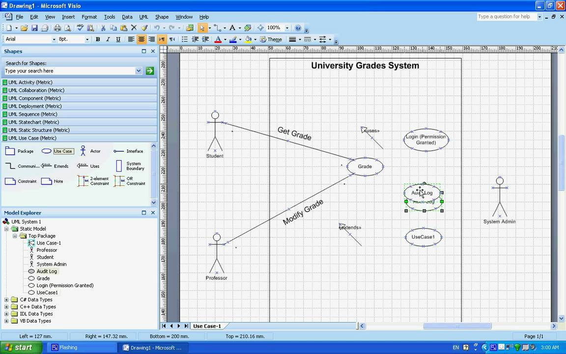Use Case Uml Diagrams   Example  Understanding  U0026 Creating Them Using Microsoft Visio