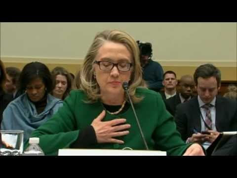Hillary Clinton testifies before House on 1-23-2013 re: Benghazi, Libya Terror Attack
