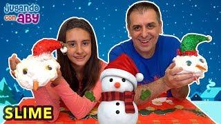 EL SLIME MÁS DURO DEL MUNDO para hacer muñecos de nieve en Navidad